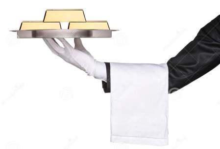 gold-on-platter