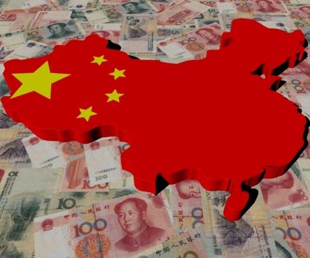 China Map flag on Yuan illustration